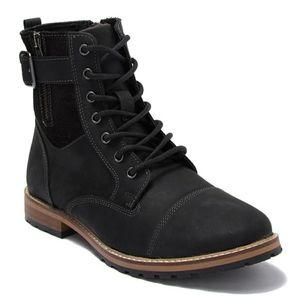 NWT NIB Crevo Men's Lace Up Side Zip Boots Sz 10.5